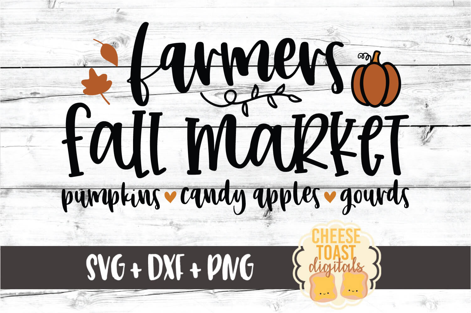 Farmers Fall Market - Fall Sign SVG PNG DXF Cut Files example image 2