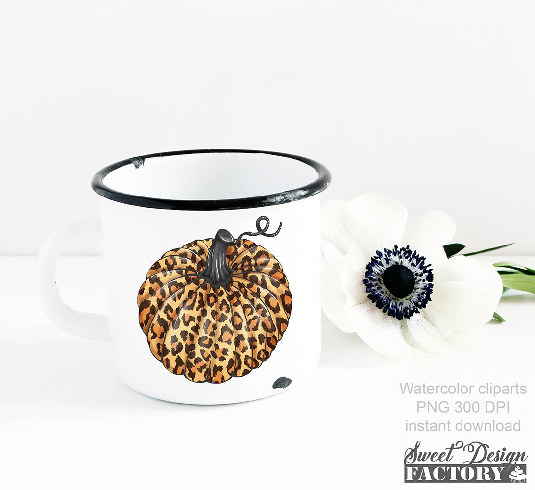 Leopard pumpkins cliparts example image 6