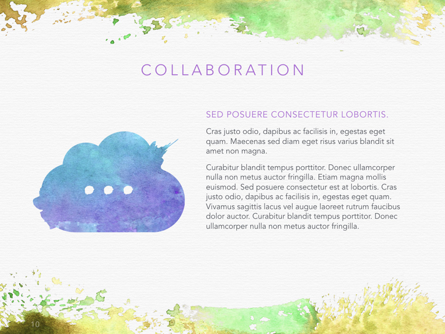 Watercolor PowerPoint Template example image 10