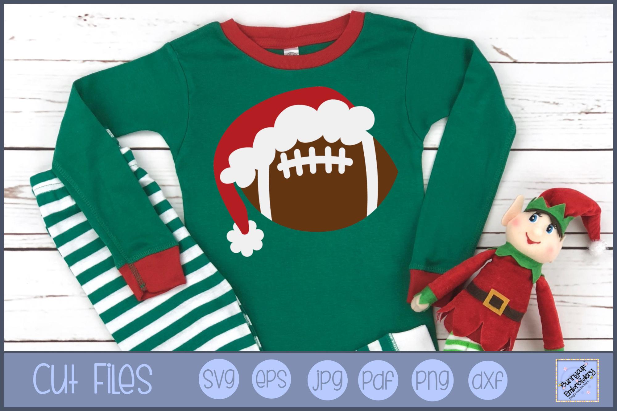 Christmas Football - SVG, Clipart, Printable example image 1