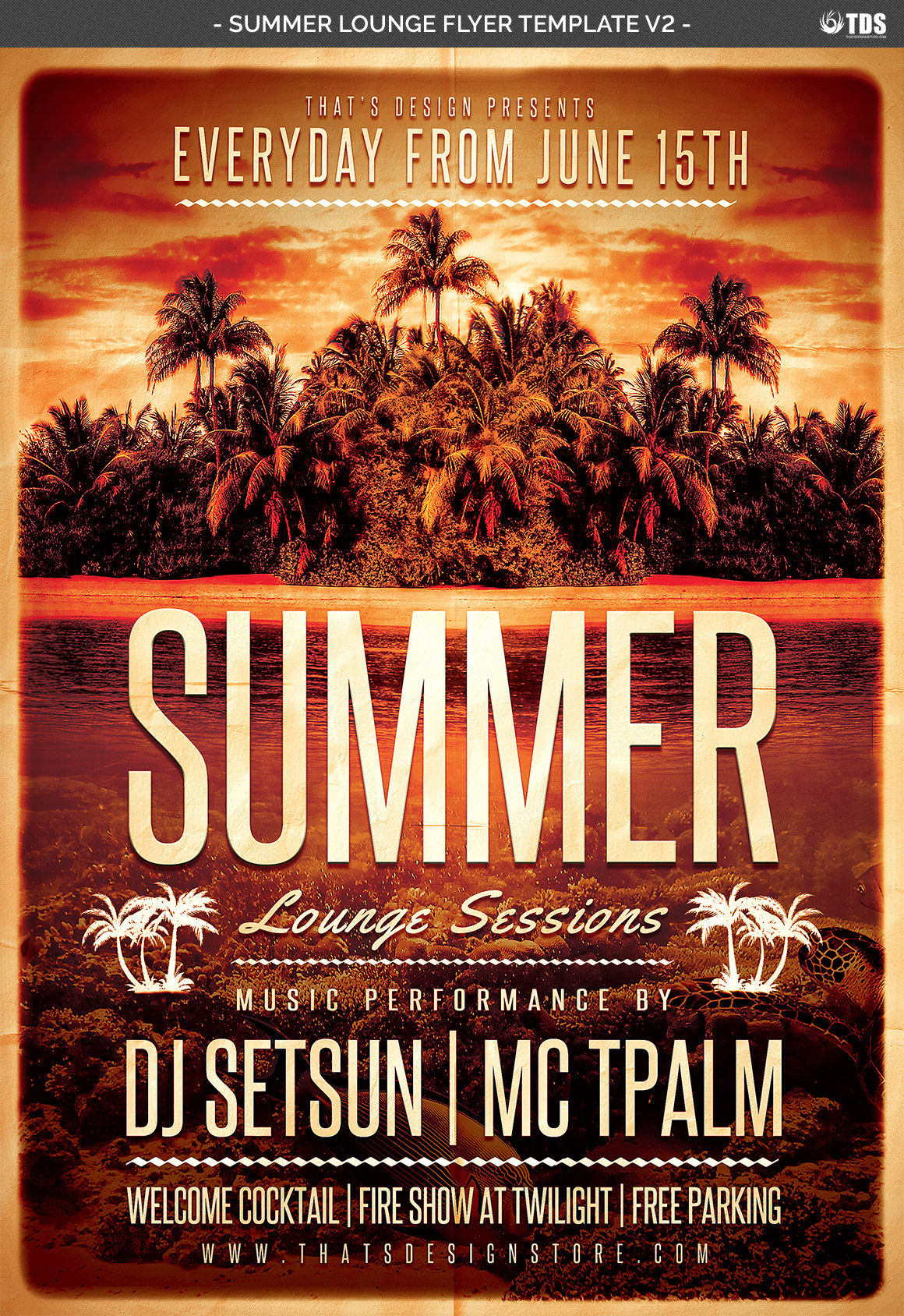 Summer Lounge Flyer Template V2 example image 4