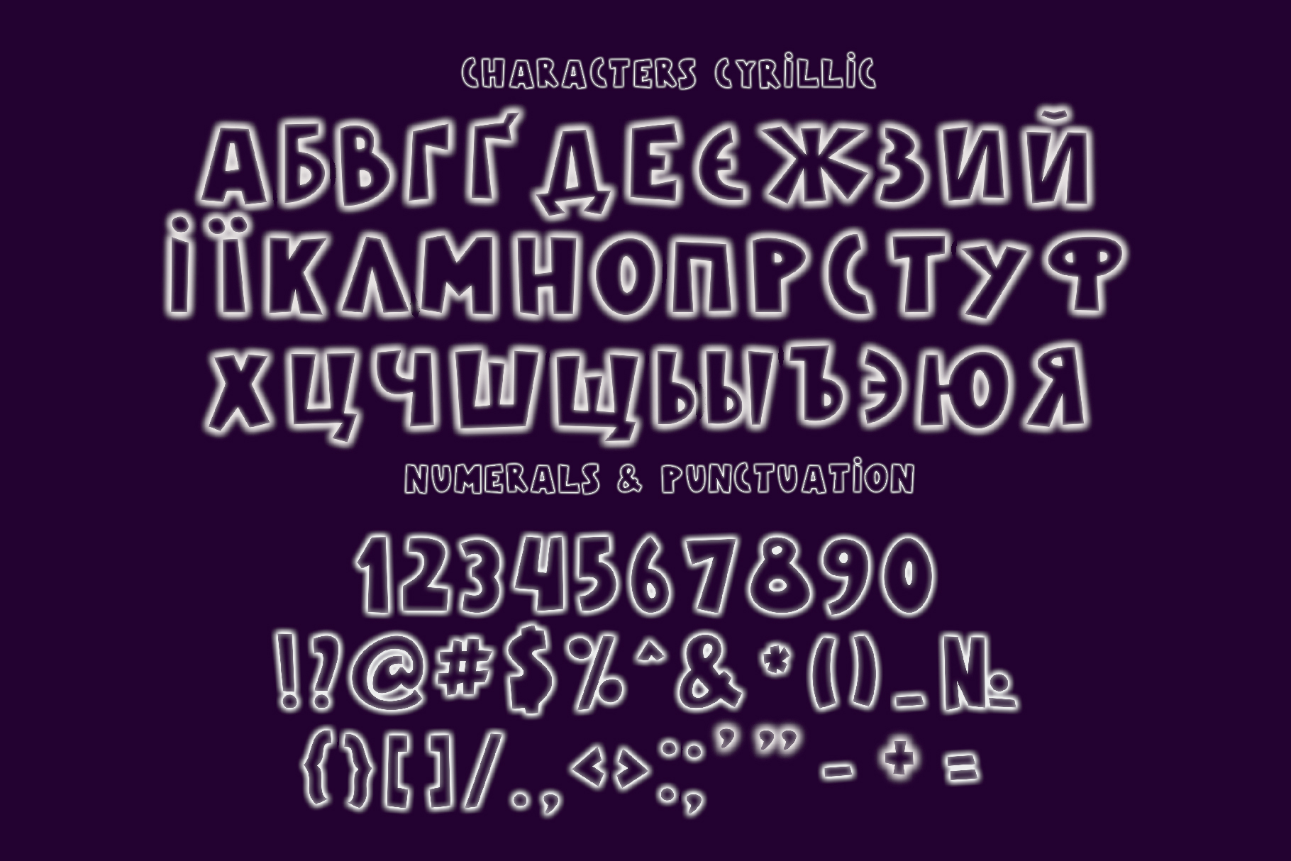 Galaxy Color Bitmap Font example image 3