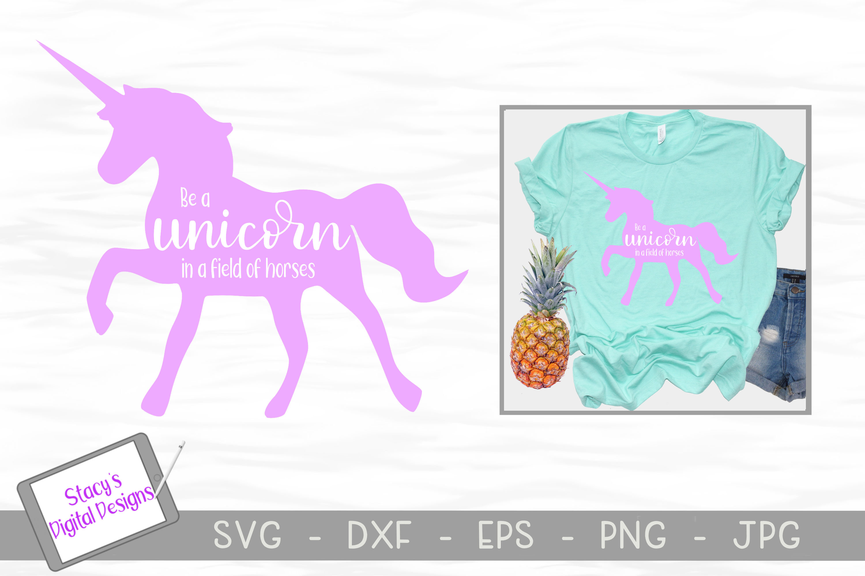 Unicorn SVG - Be a unicorn in a field of horses example image 1