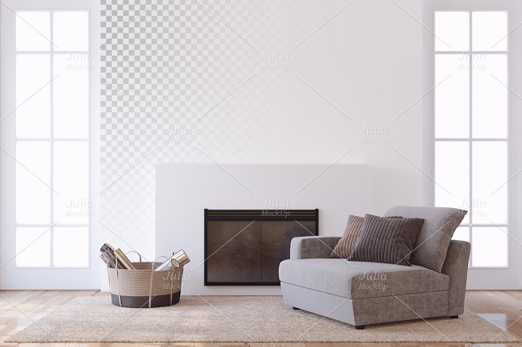 Men's Interior. Wall&Frames Mockup. example image 6