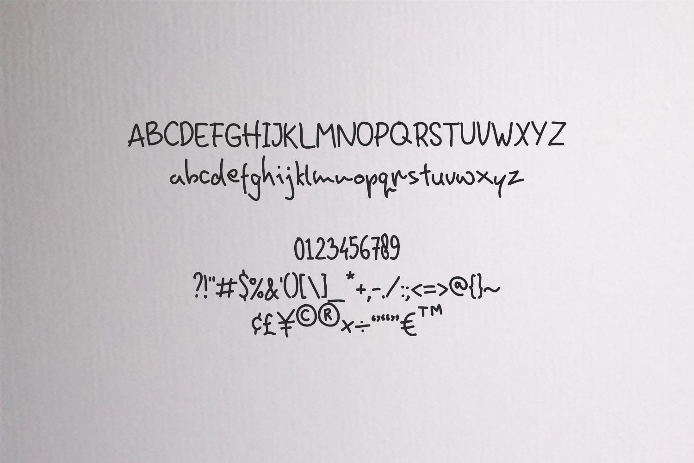 HominFun Handwriting Font example image 2