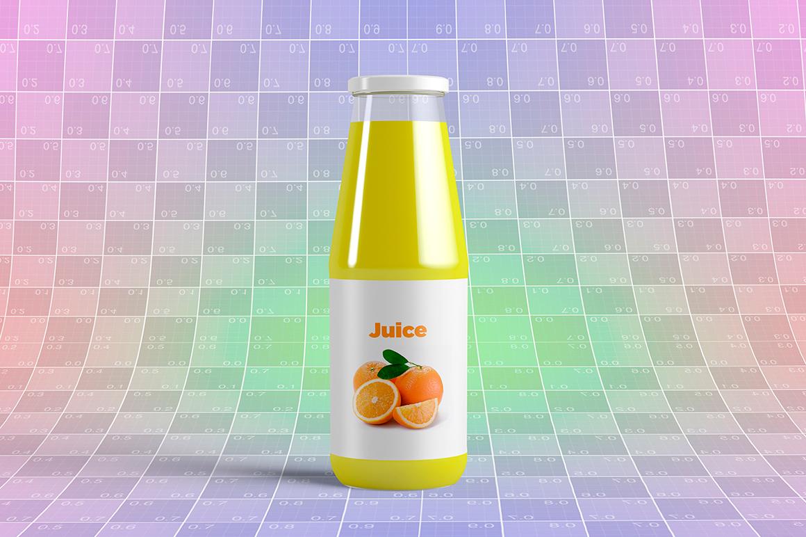 Juice Bottle Mock-Up example image 13