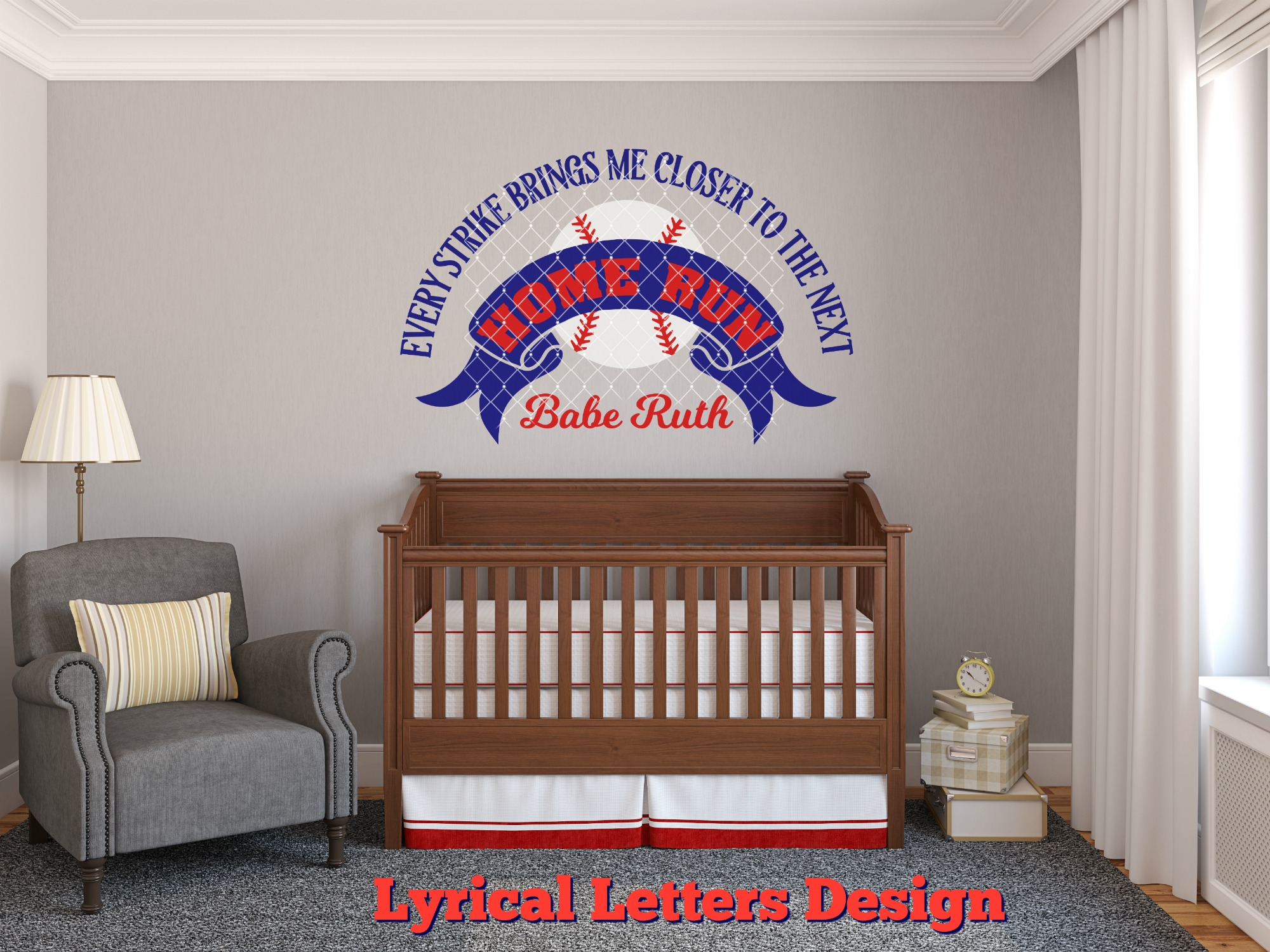 Babe Ruth Baseball Quote SVG DXF Cut File LL108E example image 2