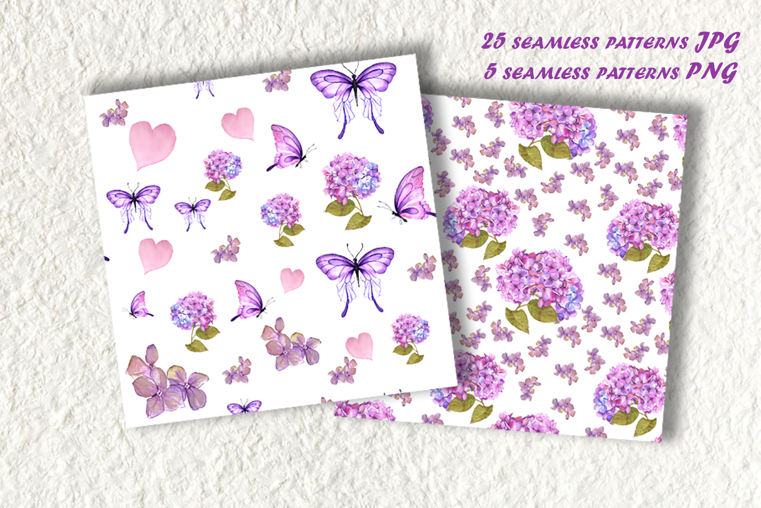 Watercolor clipart of hydrangea, butterflies and teddy toys example image 6