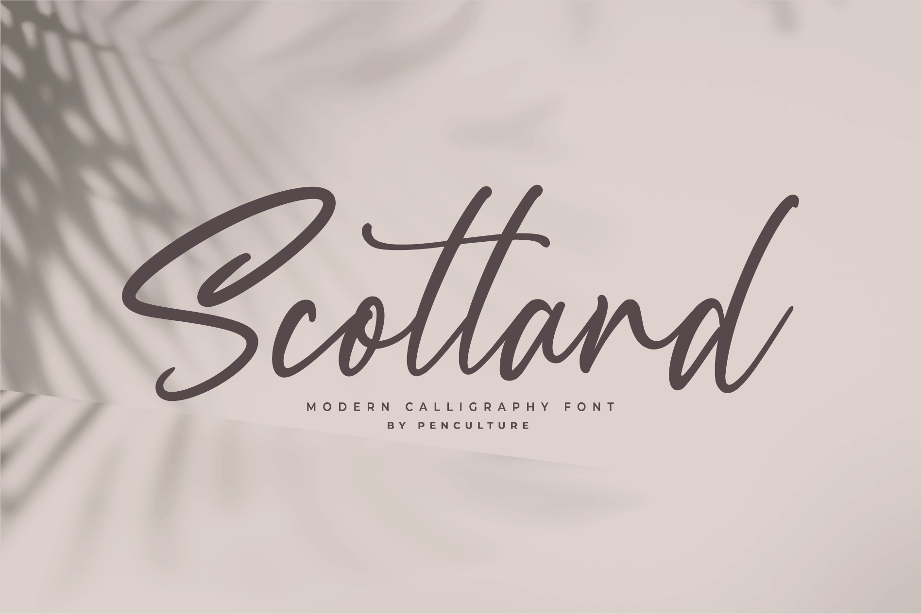 Scotland - Modern Calligraphy font example image 9