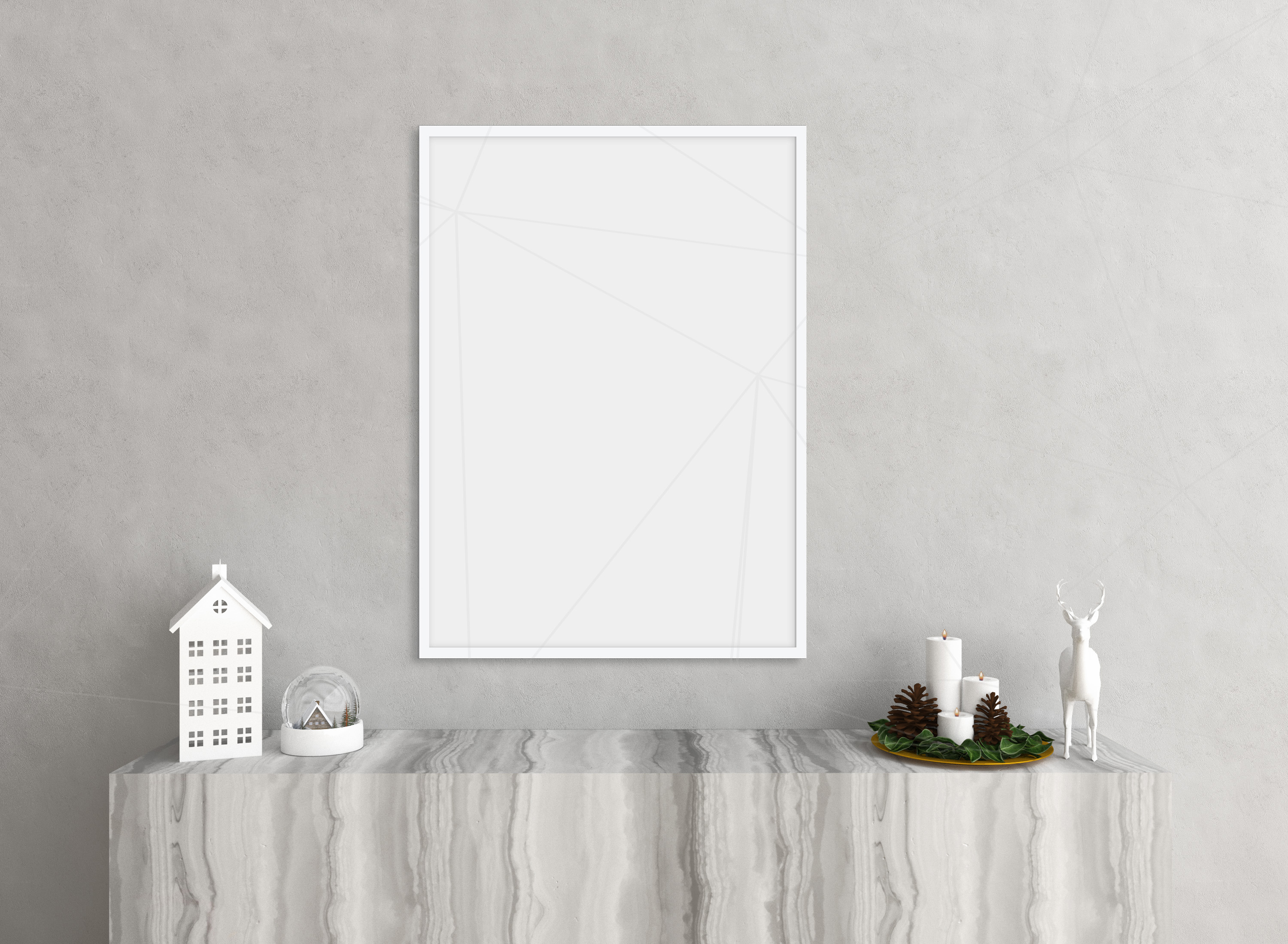 Christmas interior mockup bundle - blank wall mock up example image 1