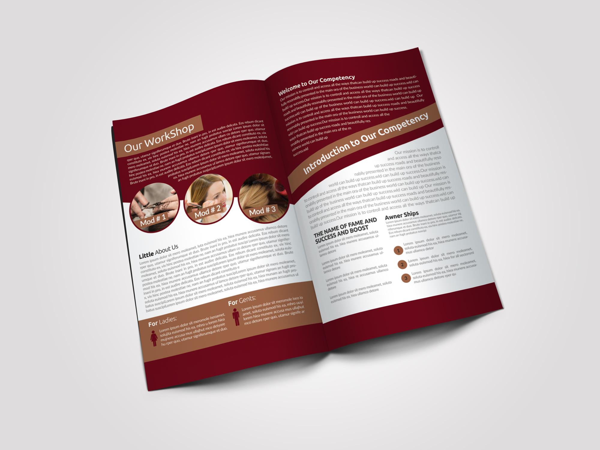Beauty & Fashion Bifold Brochure example image 3