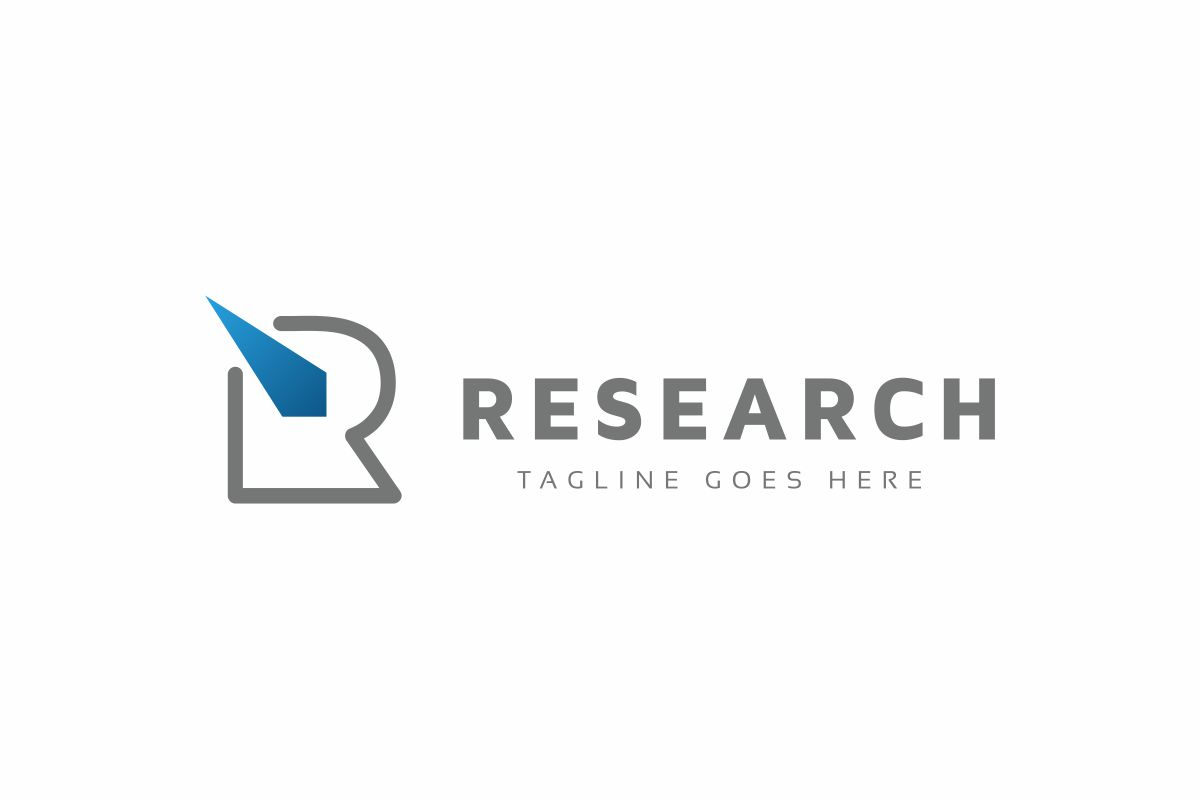 Research R Letter Logo example image 2