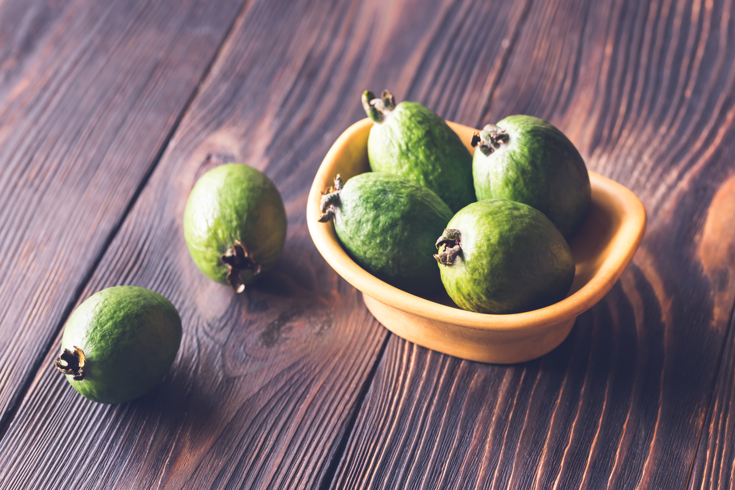 Bowl of feijoa fruits example image 1