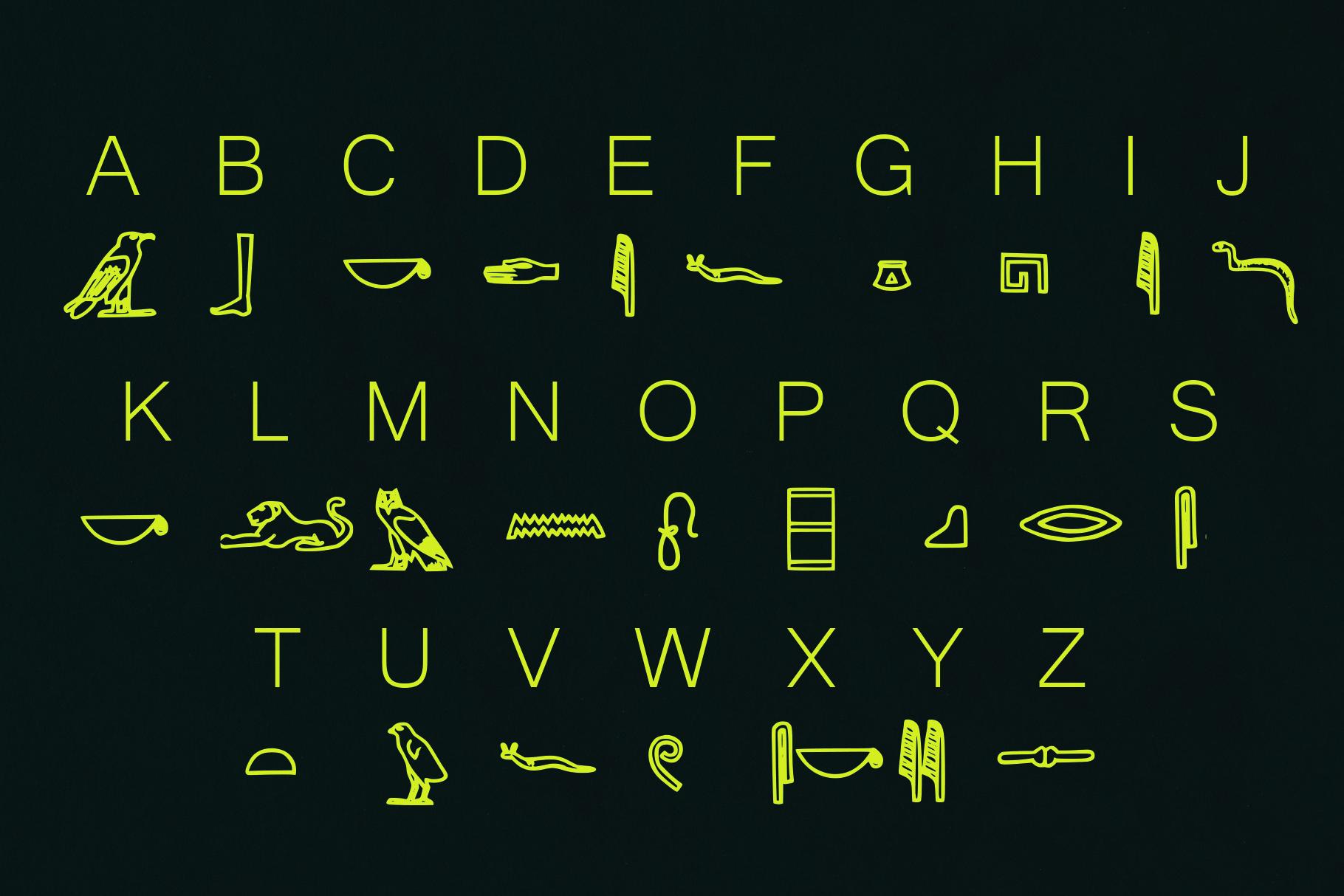 Egyptian Hieroglyph Typeface example image 2