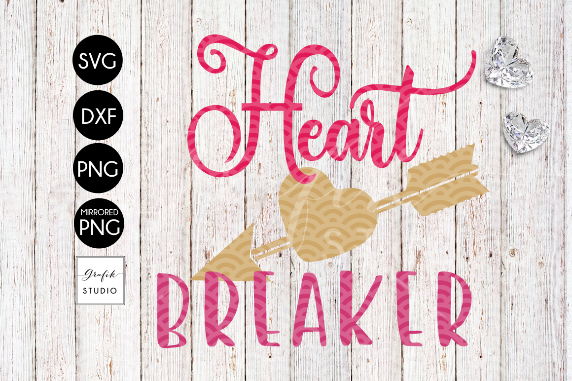 Heart Breaker Valentines SVG File example image 2