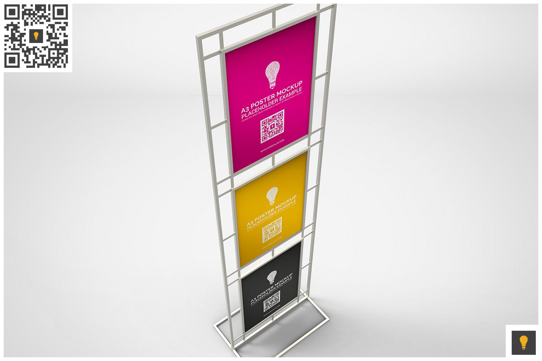 Poster Stand Display Mockup example image 2