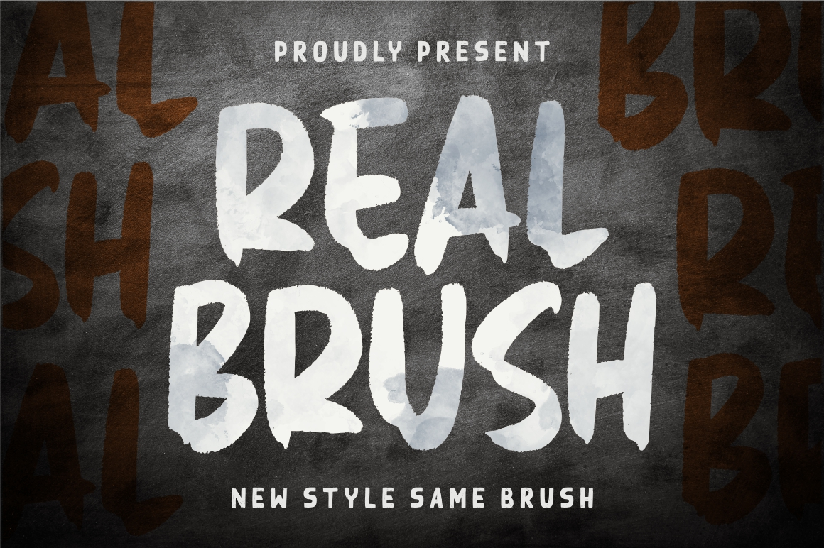 Real Brush Font example image 1