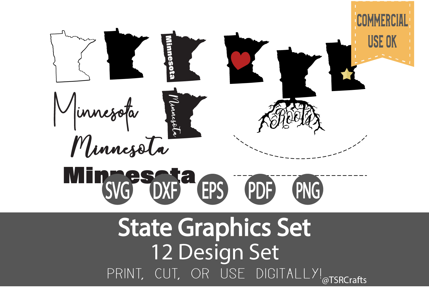Minnesota State Graphics Set - Clip Art and Digital Cut example image 1