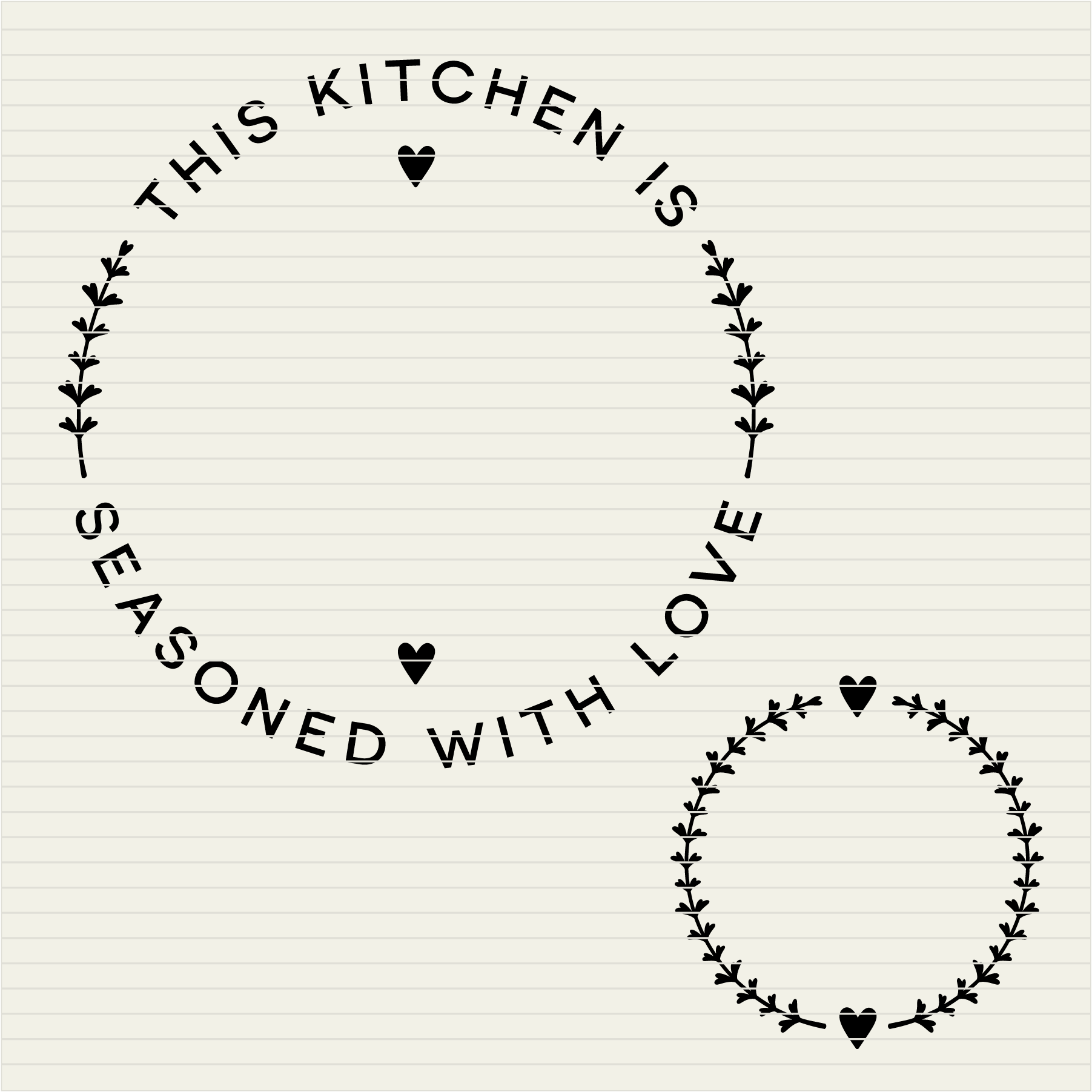 Kitchen Seasoned with Love | Personalize SVG monogram frame example image 3