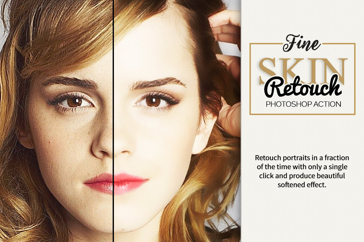 Fine Skin Retouch Photoshop Action example image 2