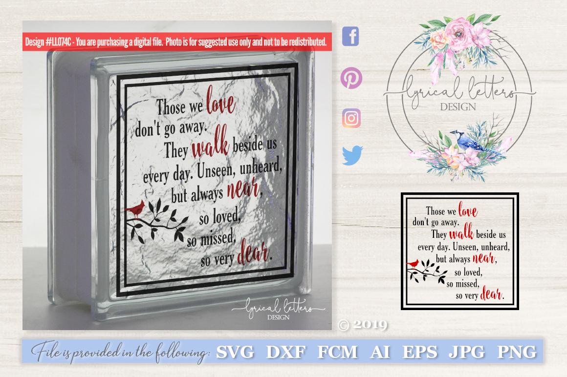 Those We Love Don T Go Away Cardinal Svg Dxf Ll074c 13060 Cut Files Design Bundles