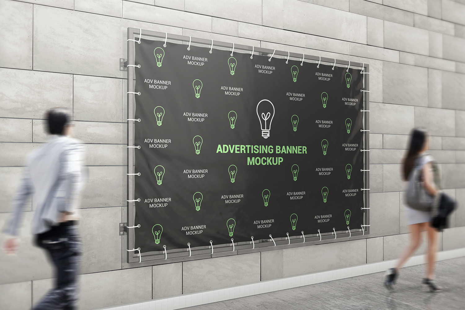 Advertising Banner Mockup example image 2
