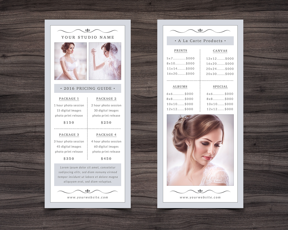 Photography Rack Card Template example image 2