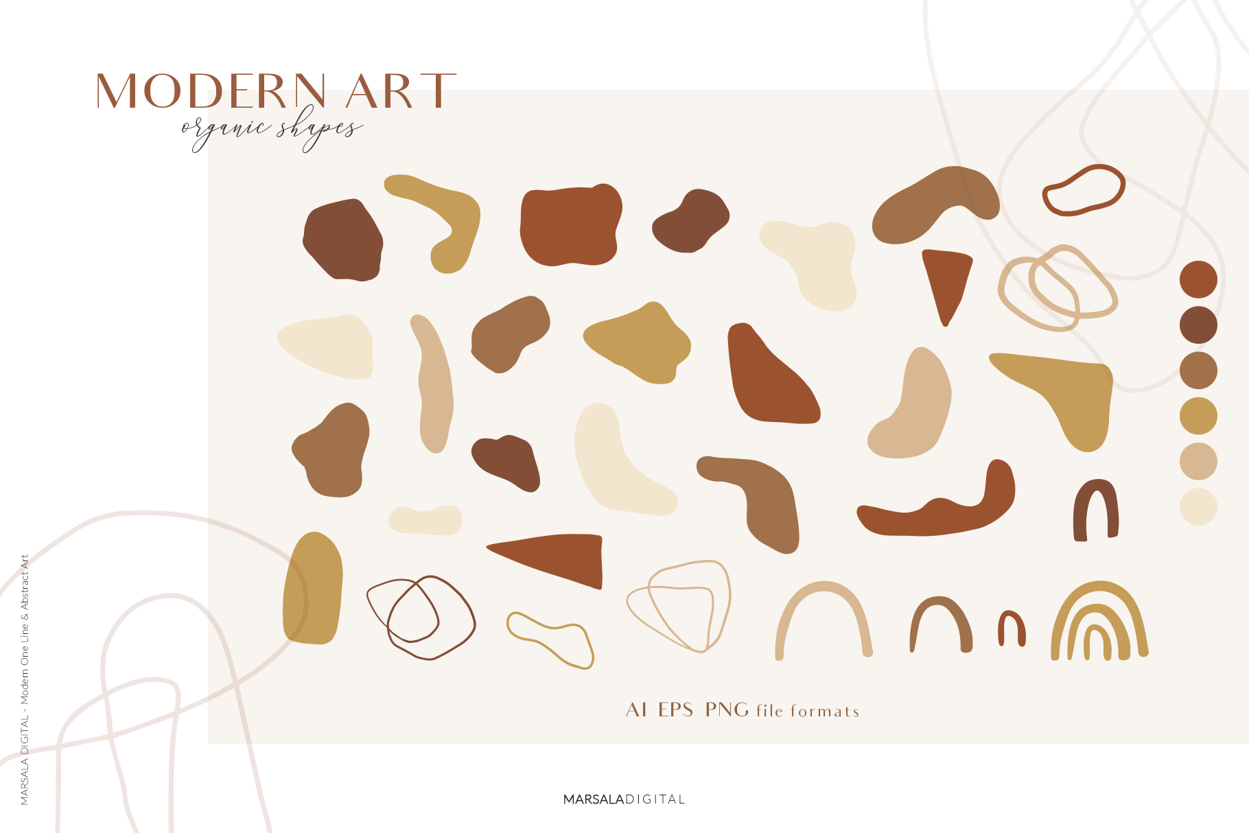 MODERN ART One Line and Abstract Graphics Prints example image 18