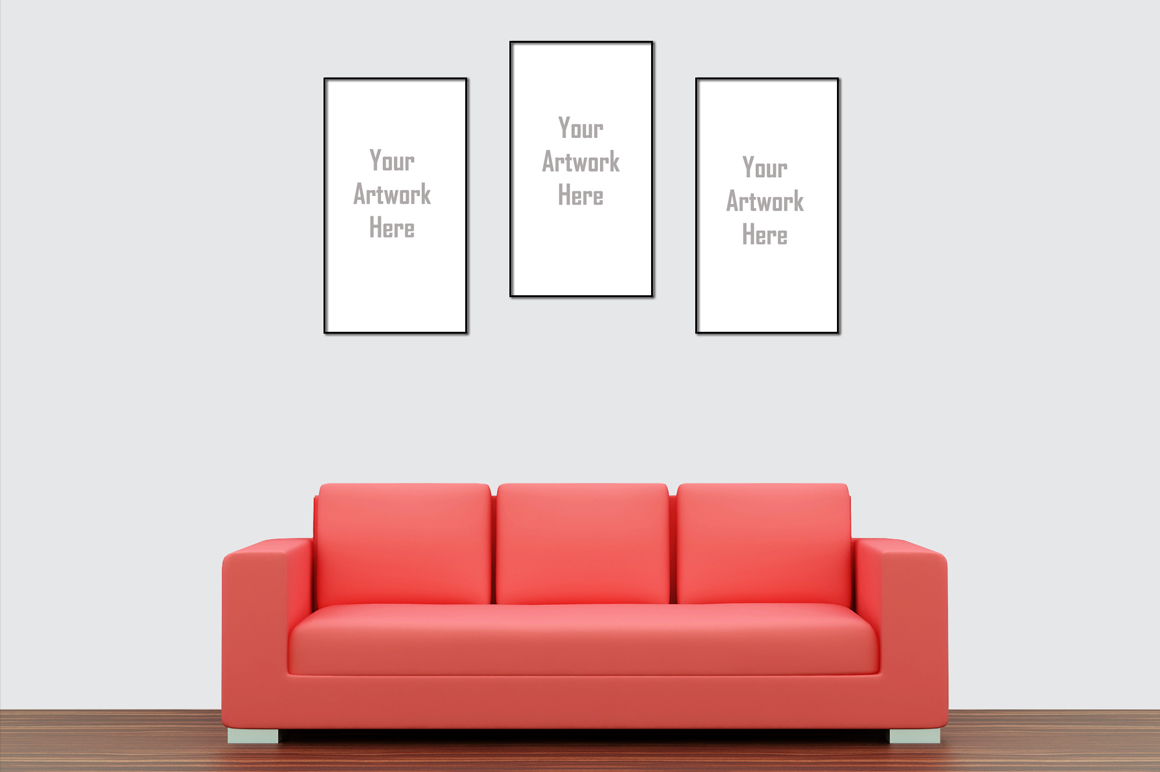 Wall art / decals / poster Mockup v1 example image 2