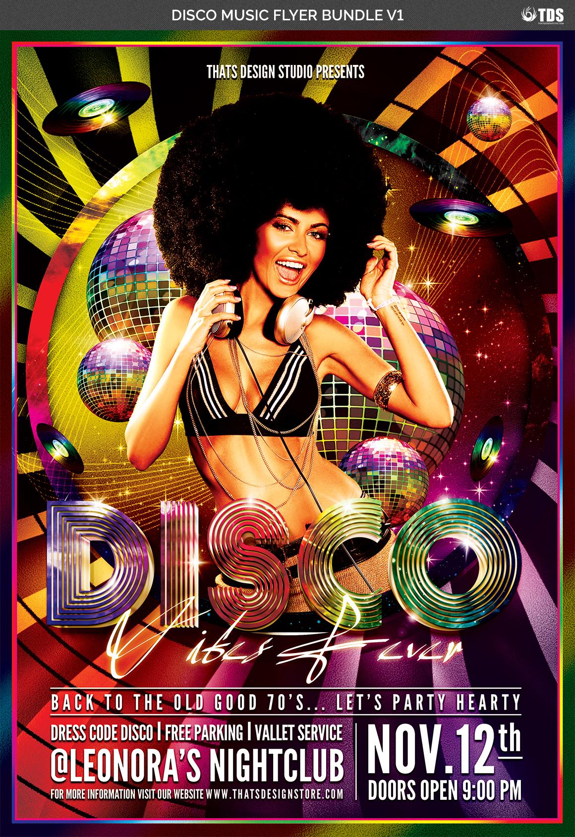 Disco Music Flyer Bundle V1 example image 6