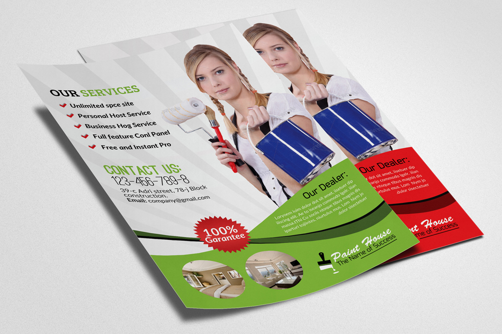 House Paint Service Flyer Template example image 3
