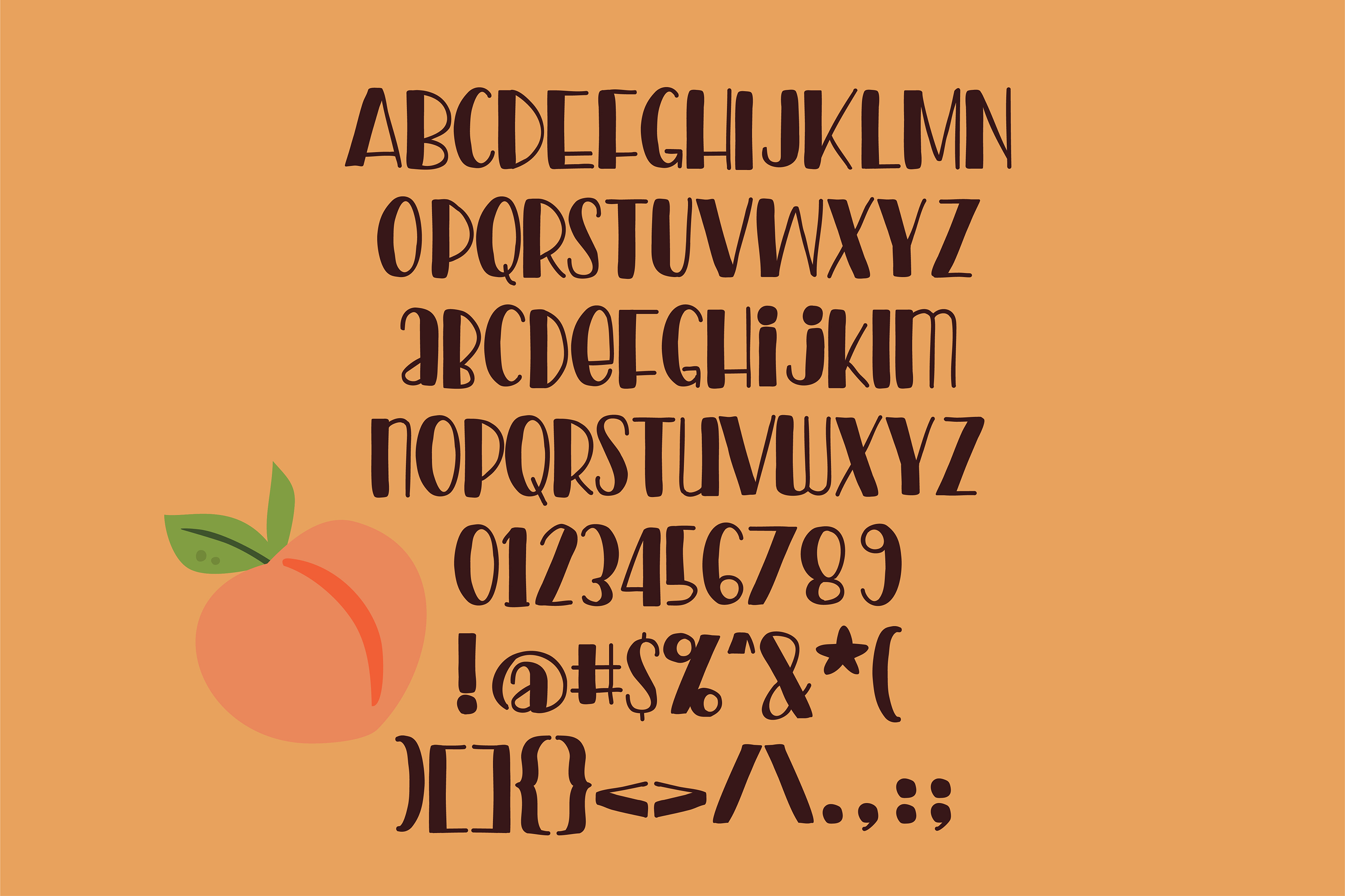 PN Peach Preserves Font Duo example image 3