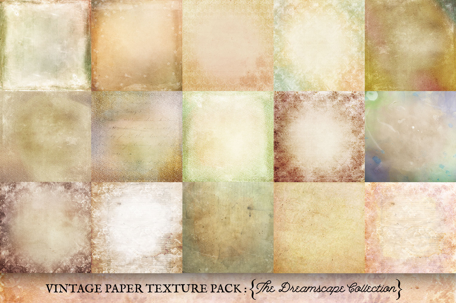 Vintage Paper Textures Dreamscape Collection example image 2