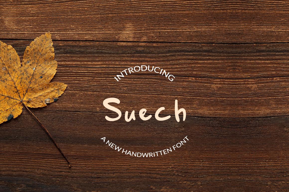 Suech - Handwritten Font example image 1