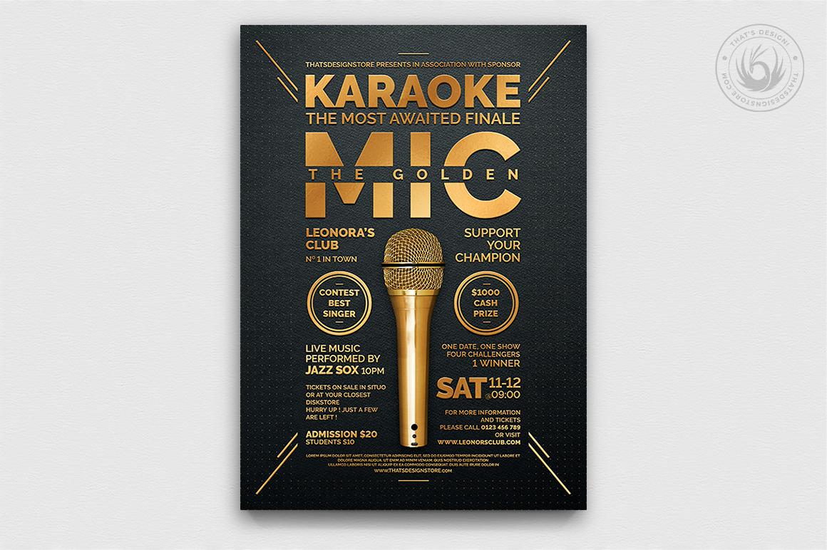 10 Karaoke Flyer Bundle example image 5