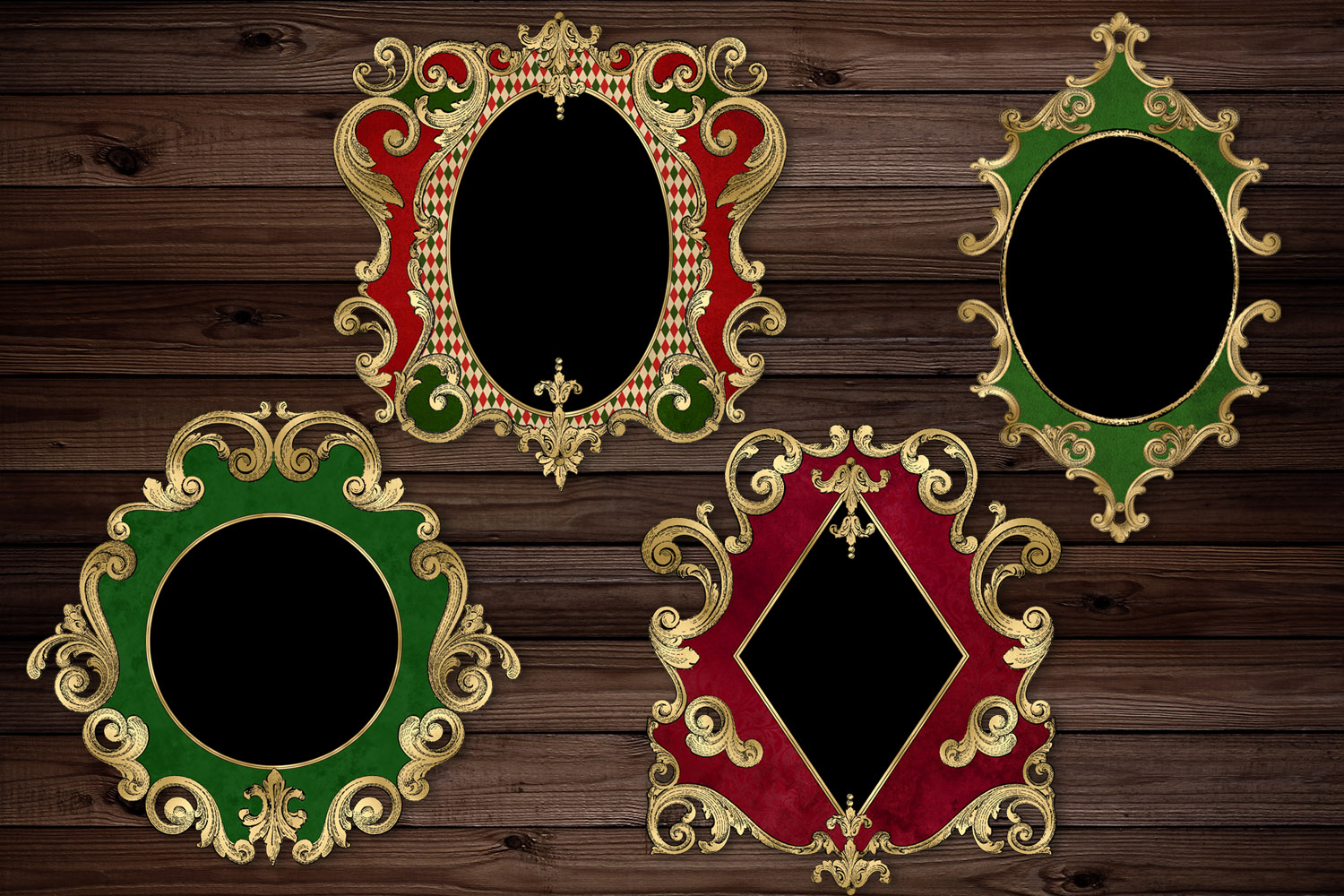 Ornate Christmas Frames Clipart example image 2