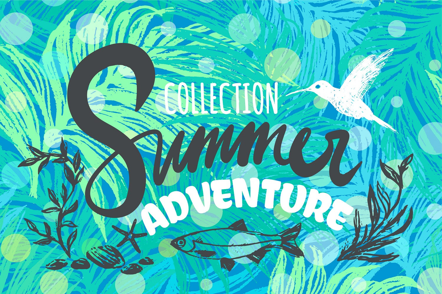 Summer Adventure Patterns&Elements example image 1