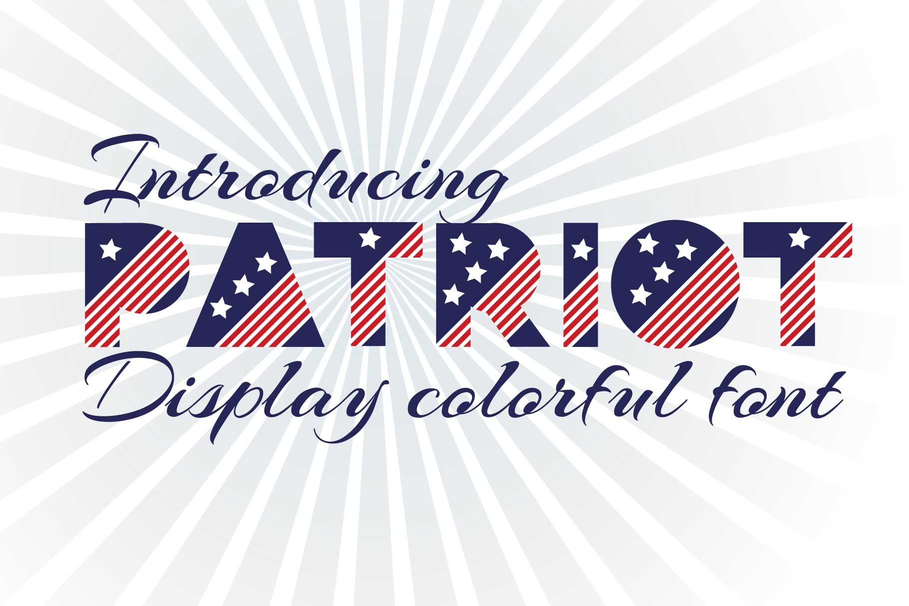 Patriot font family example image 1