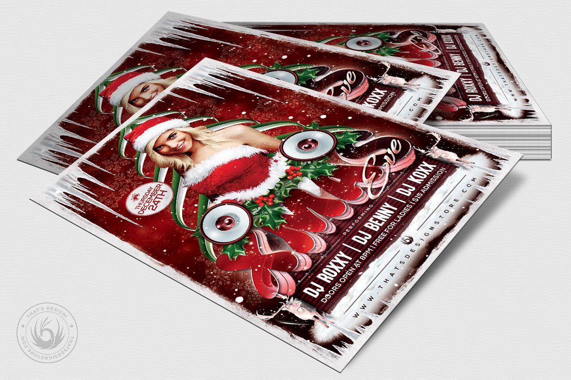 Christmas Eve Flyer Template V1 example image 5