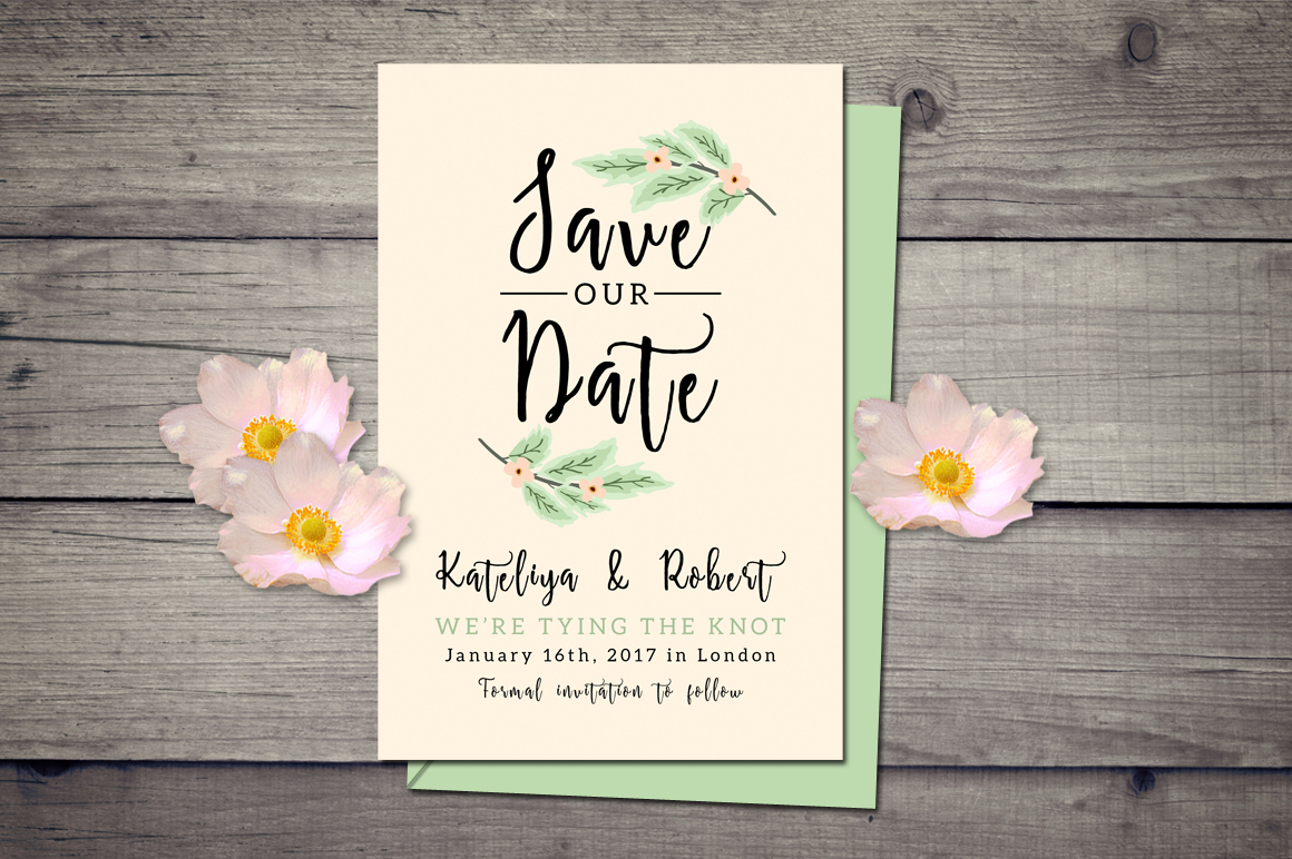Nature Wedding Invitation Suite example image 4
