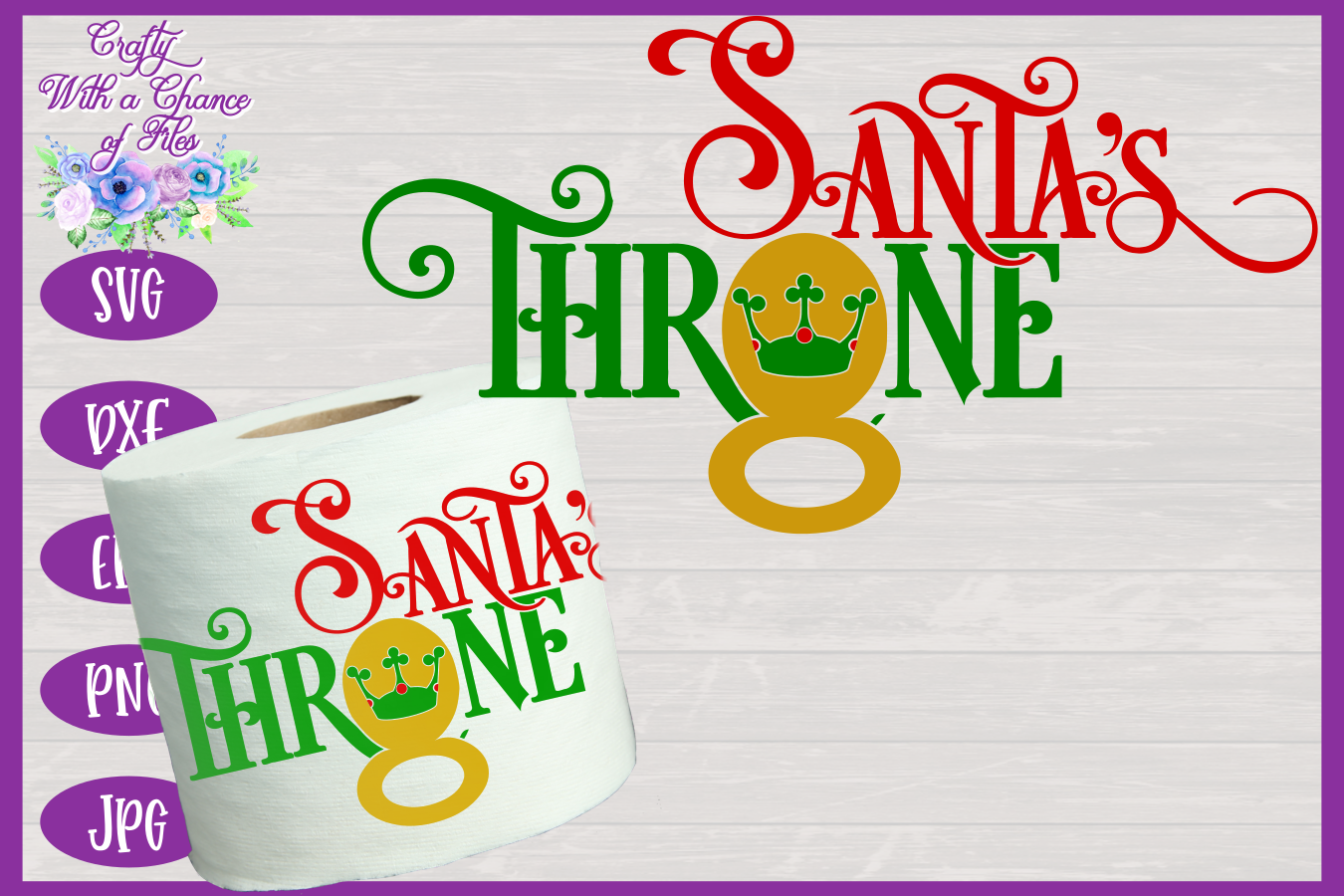 Christmas Toilet Paper SVG - Funny Gag Gift Design example image 1