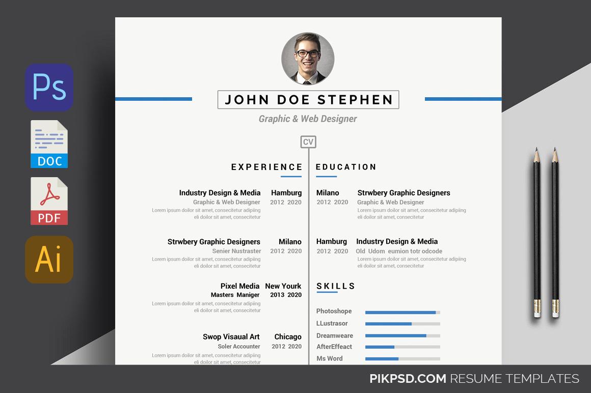 Simple Resume/CV  example image 1