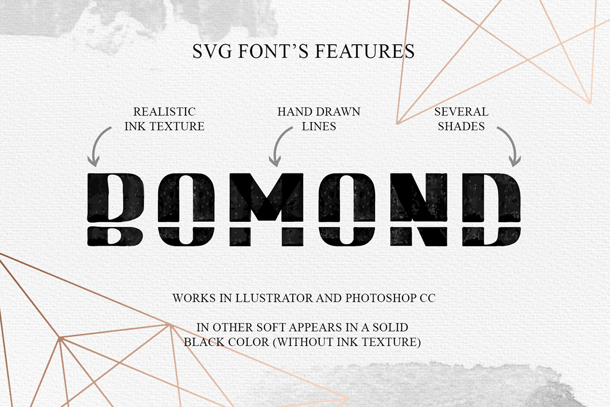 BOMOND. Textured Ink Font example image 6