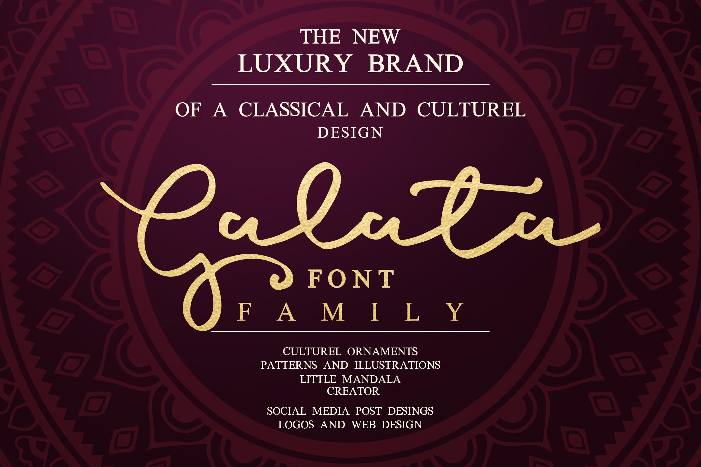 Galata Font Family example image 1