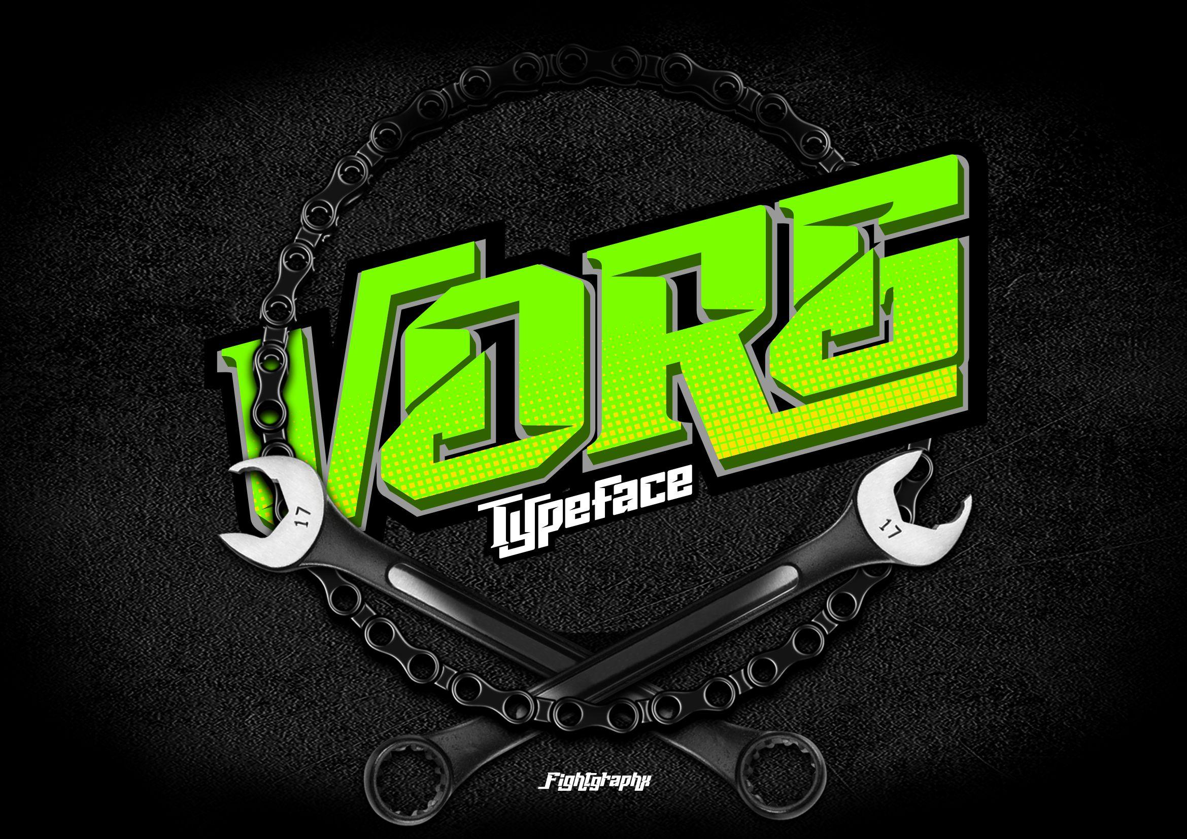 Vorg typeface example image 1