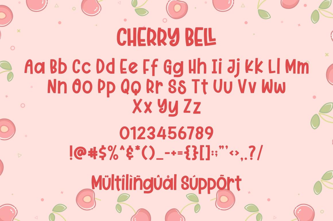 Cherry Bell - Freshty Font example image 7