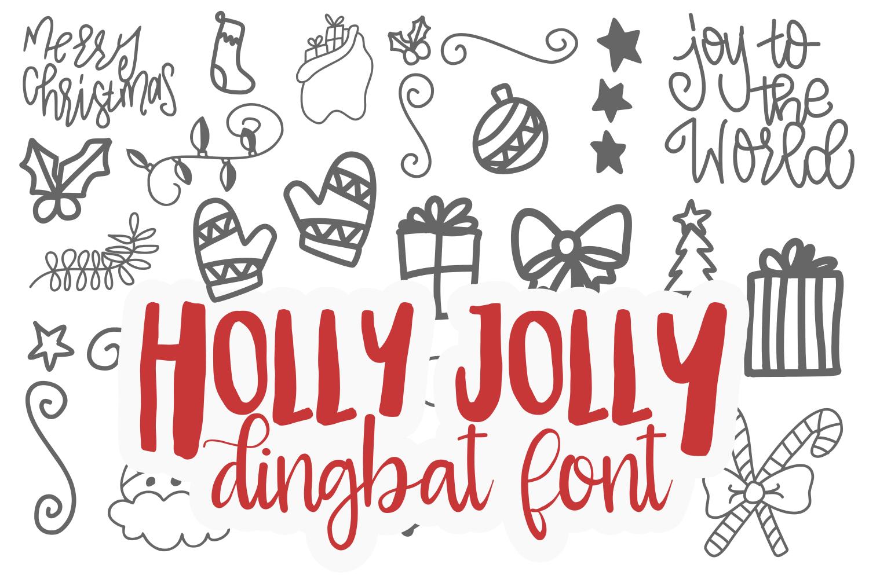 Holly Jolly Dingbat TTF example image 1
