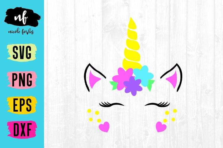 Unicorn Face SVG Cut File example image 1