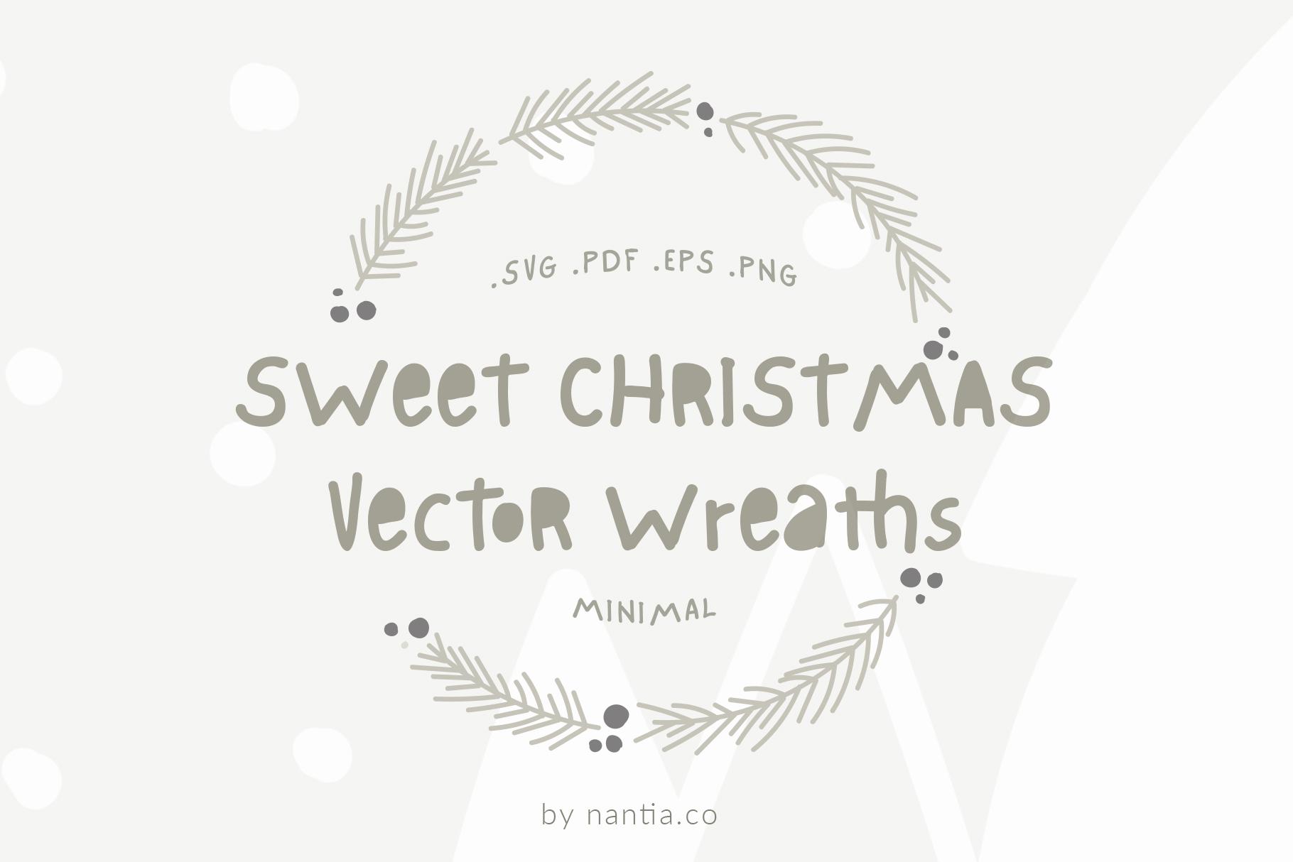 Sweet Christmas Vector Wreaths example image 1