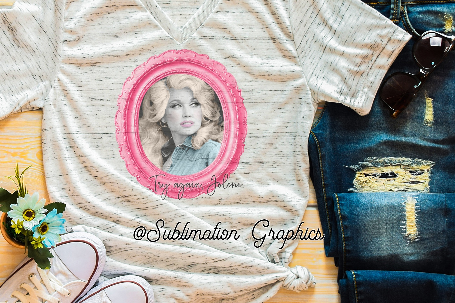 Try Again, Jolene Sublimation Digital Download example image 1